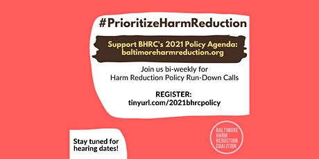 2021 Harm Reduction Policy Run-Down tickets