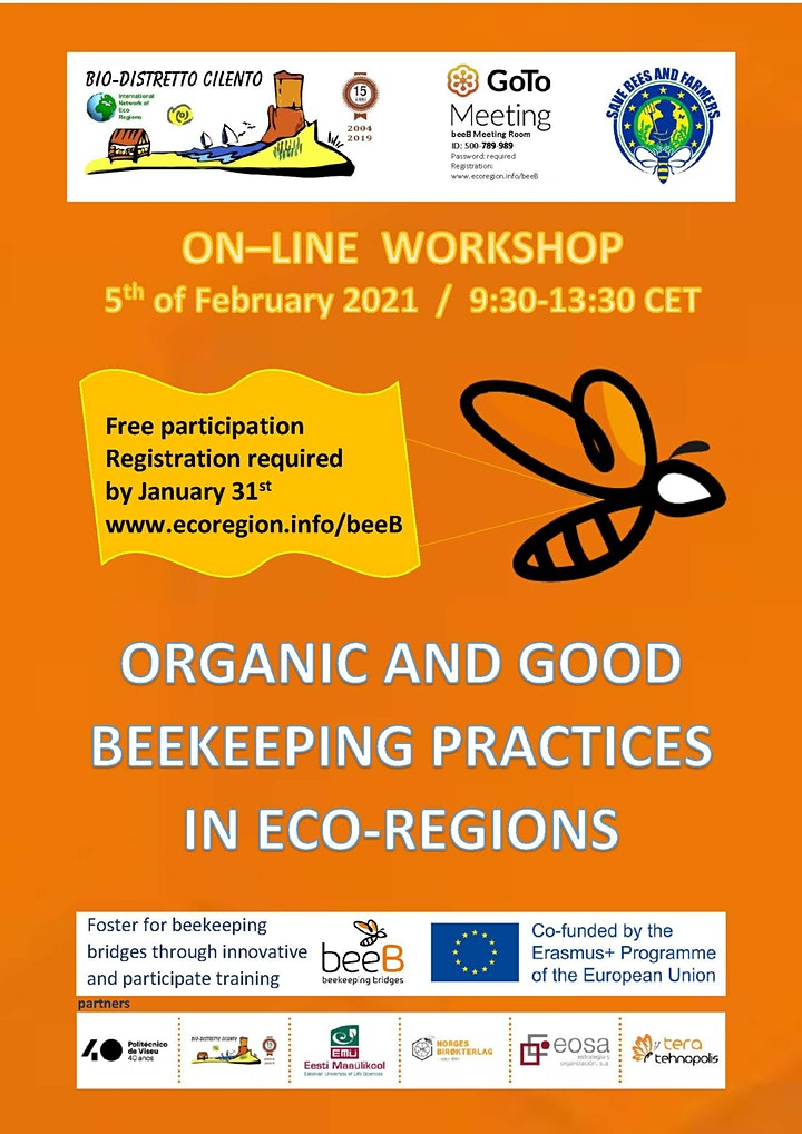 """On-line Workshop """"Organic and good beekeeping practices  in Eco-Regions"""" image"""