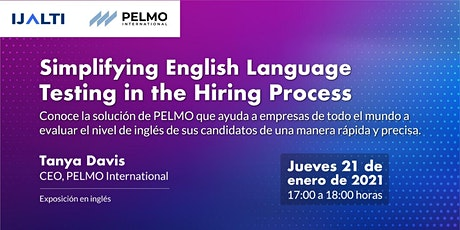 "Webinar: ""Simplifying English Language Testing in the Hiring Process"" boletos"