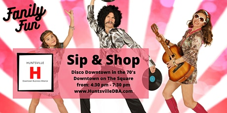 2nd Saturday Sip and Shop on The Square Disco Downtown tickets