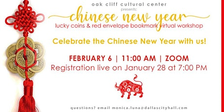 Chinese New Year: virtual workshop tickets