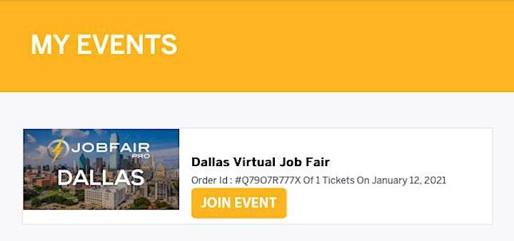 Dallas Virtual Job Fair - August 5, 2021 Dallas Career Fairs image