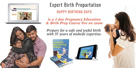 "Birth preparation ""Happy Birthing Days"" (English)  (ONLINE/LIVE) tickets"