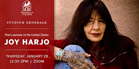 Joy Harjo at Peninsula College Studium Generale entradas
