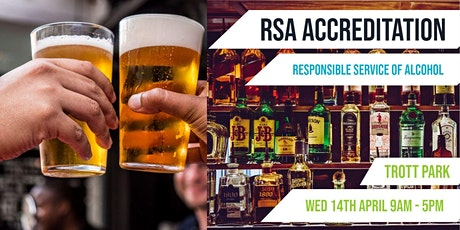 Trott Park | RSA Accreditation  | Responsible Service of Alcohol tickets