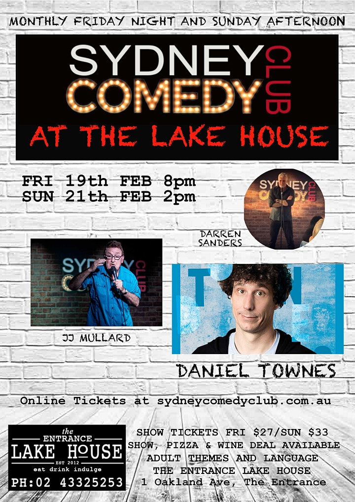 Sunday Comedy at The Entrance with Daniel Townes & JJ Mullard image