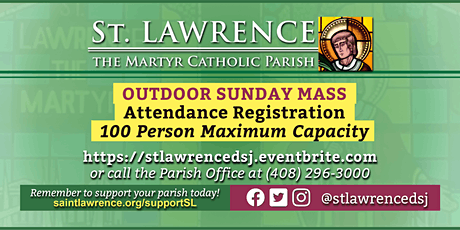 SUNDAY, January 24, 2021 @ 9:30 AM Mass Registration tickets