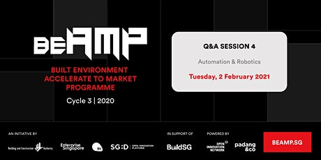 BEAMP Q&A Session 4: Automation & Robotics tickets