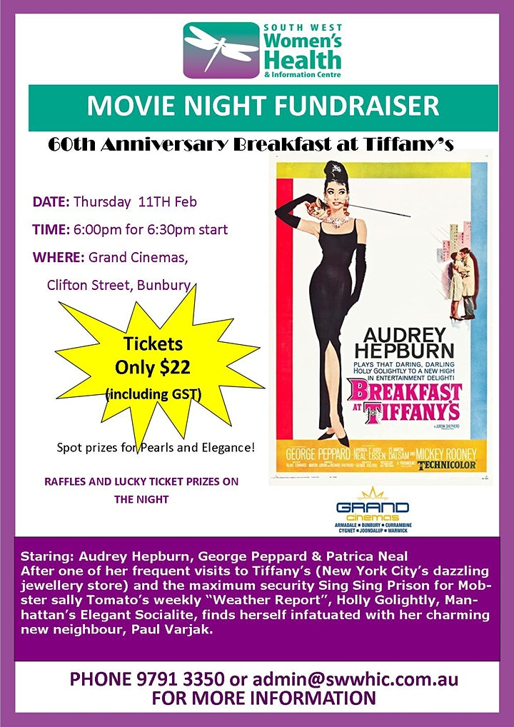 Movie Fundraiser - Breakfast at Tiffany's 60th Anniversary (PG) image