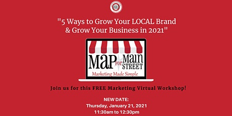 5 Ways to Grow Your LOCAL Brand & Grow your Business in 2021 tickets