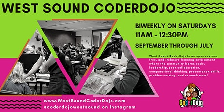 2021 Season of West Sound CoderDojo on Zoom! biglietti