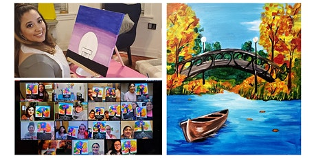 """Live Virtual Painting Class """"Riverboat"""" tickets"""