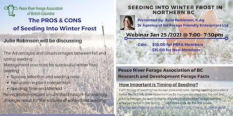 The PROS & CONS  of Seeding Into Winter Frost tickets
