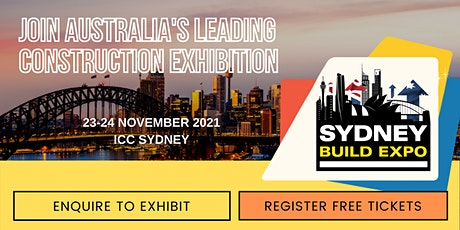 Sydney Build Expo 2021 - Free Conference & Summits tickets