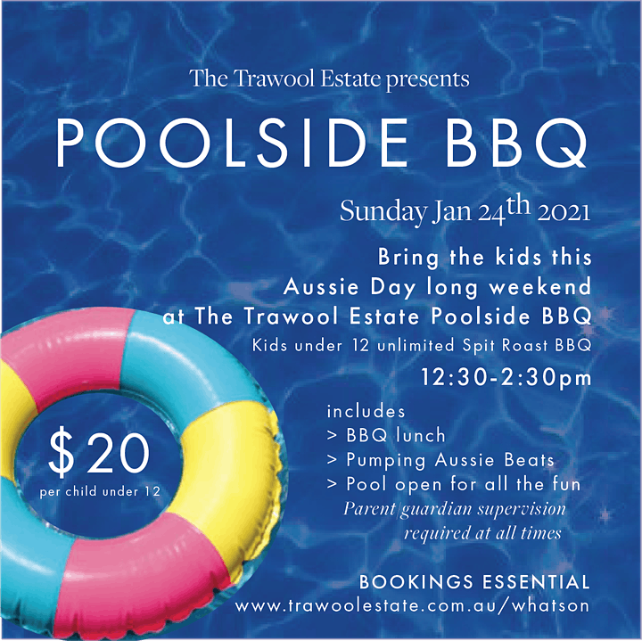 KIDS TIX - The Trawool Aussie Poolside BBQ image
