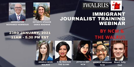 NCM-The Walrus Journalist Training Webinar tickets
