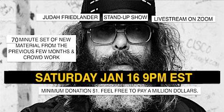 Judah Friedlander Jan 16  9pm EST Livestream Stand-up show tickets