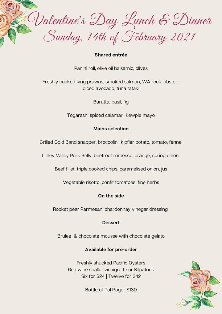 VALENTINE'S DAY LUNCH, Sunday | Fraser's Restaurant image