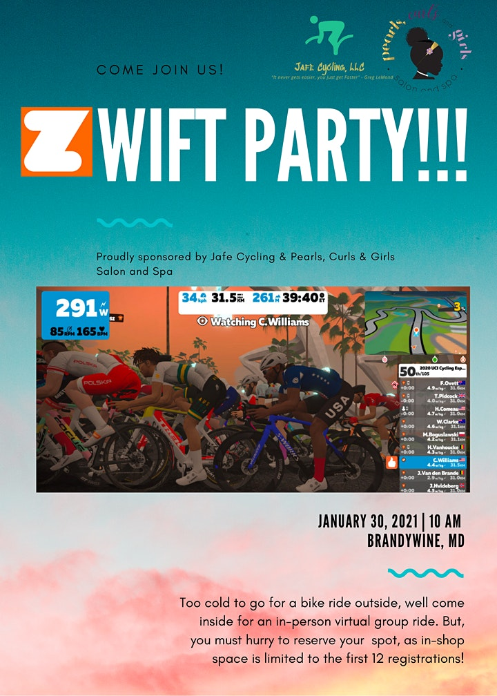 Health & Wellness Zwift Party image