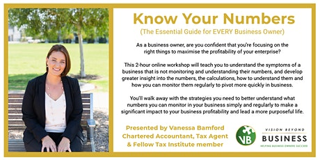Know Your Numbers - The Essential Guide for EVERY Business Owner tickets