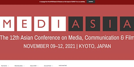 The 12th Asian Conference on Media, Communication & Film (MediAsia2021) tickets