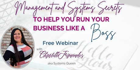 Run Your Business Like a Boss through Management & Systems tickets