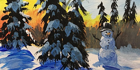 Virtual Paint Night- Snowman Trees - Art Attack! Paint Party tickets