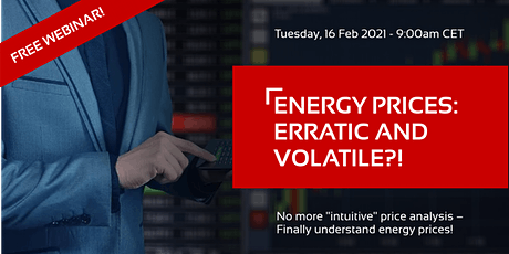 """FREE WEBINAR: """"Energy Prices: Erratic and Volatile?!"""" tickets"""