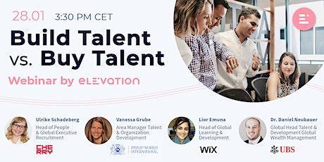Live Webinar: Build Talent vs. Buy Talent tickets