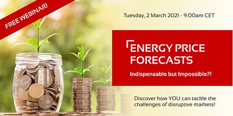 """FREE WEBINAR: """"Energy Price Forecasts: Indispensable but Impossible?!"""" tickets"""