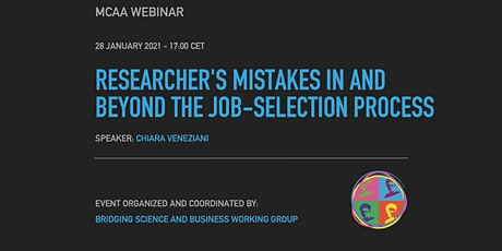 BSB Webinar: Researcher's mistakes in and beyond the job-selection process tickets