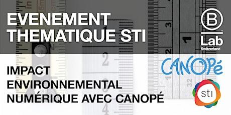 Evénement thématique STI - Impact environnemental du numérique billets