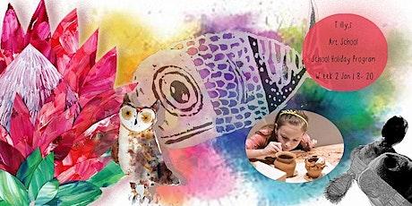 TILLY'S ART SCHOOL  KIDS  HOLIDAY PROGRAM  WEEK 2 WED 20th Jan tickets