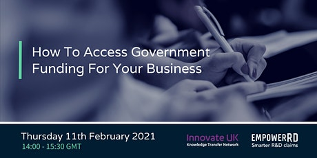 How To Access Government Funding For Your Business tickets