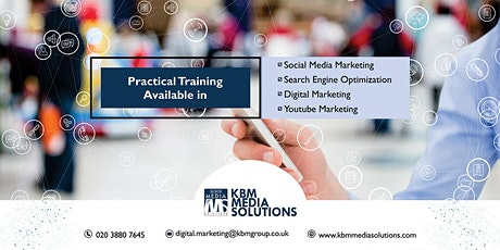 Practical Digital Marketing Training Available with work Placement tickets