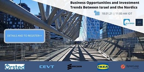 Business Opportunities and Investment Trends Between Israel and the Nordics tickets