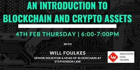 AN INTRODUCTION TO BLOCKCHAIN AND CRYPTO ASSETS tickets