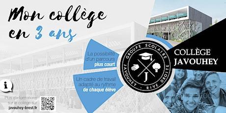 Le collège Javouhey en virtuel billets