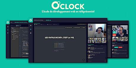 Découvre la formation de développeur web en téléprésentiel de O'clock billets