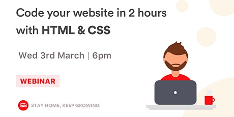 [FREE WORKSHOP] Landing Page: Learn to build your first web page tickets