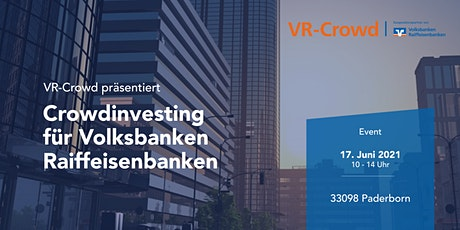 Crowdinvesting für Volksbanken Raiffeisenbanken VII Tickets