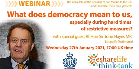 What democracy means, especially during hard times of restrictive measures? tickets