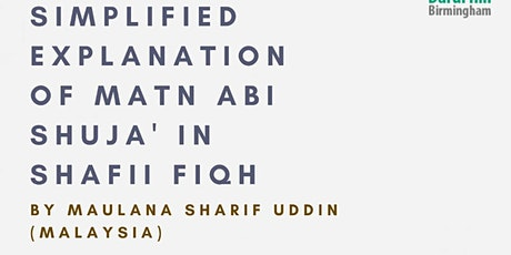 Simplified Explanation of Matn Abi Shuja' in Shafii Fiqh tickets