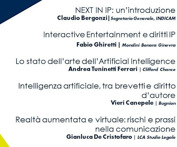 Immagine NEXT IN IP: nuove tecnologie e opportunità di business