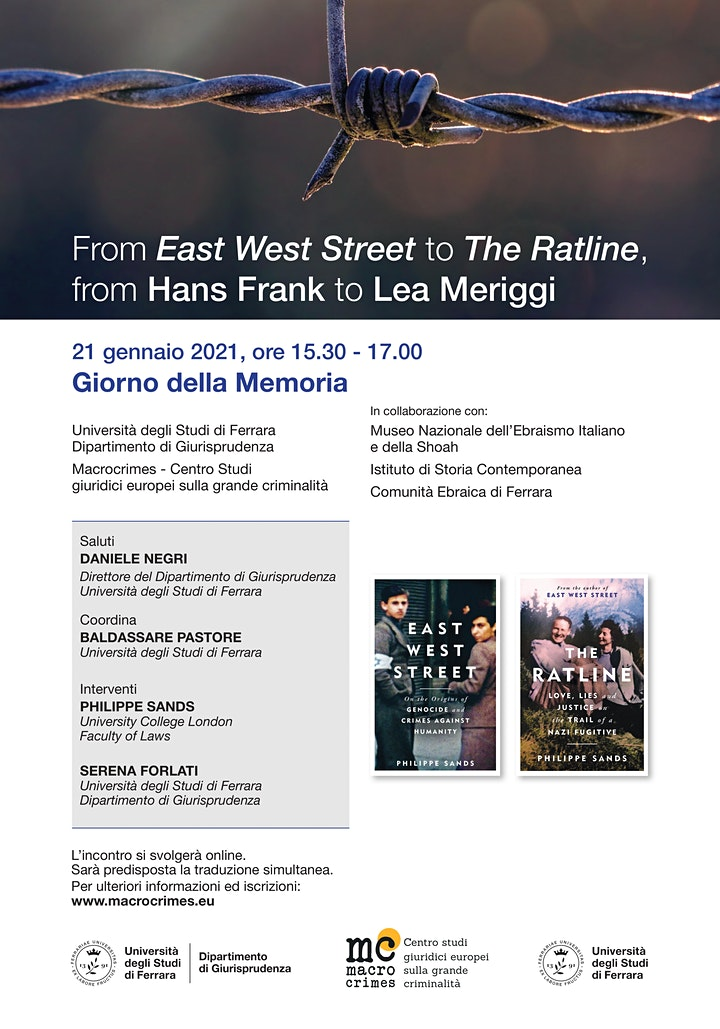 Immagine From 'East West Street' to 'The Ratline', from Hans Frank to Lea Meriggi
