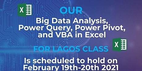 Big Data Analysis, Power Query, Power Pivot and VBA in Excel tickets