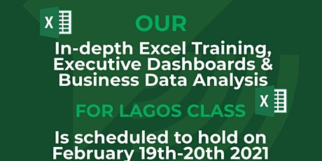 In-depth Excel Training, Executive Dashboards & Business Data Analysis tickets