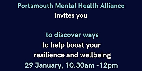 Boost Your Resilience and Wellbeing tickets