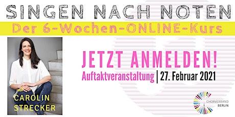 Singen Nach Noten - Der 6-Wochen-Online-Kurs Tickets