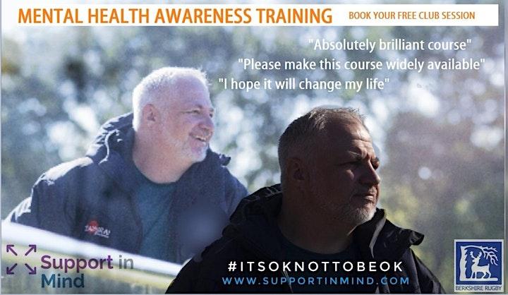 Mental Health Awareness for Berkshire Rugby affili image